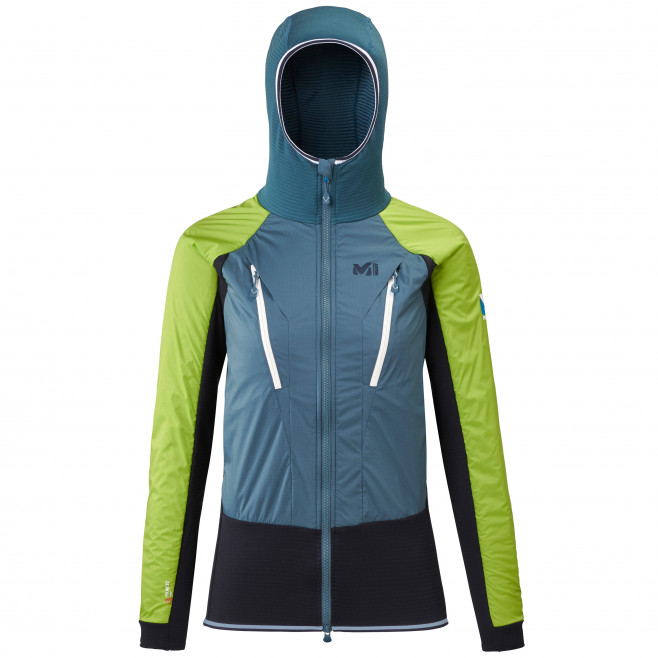 Women's very warm jacket - blue TRILOGY HYBRID ALPHA HOODIE W Millet