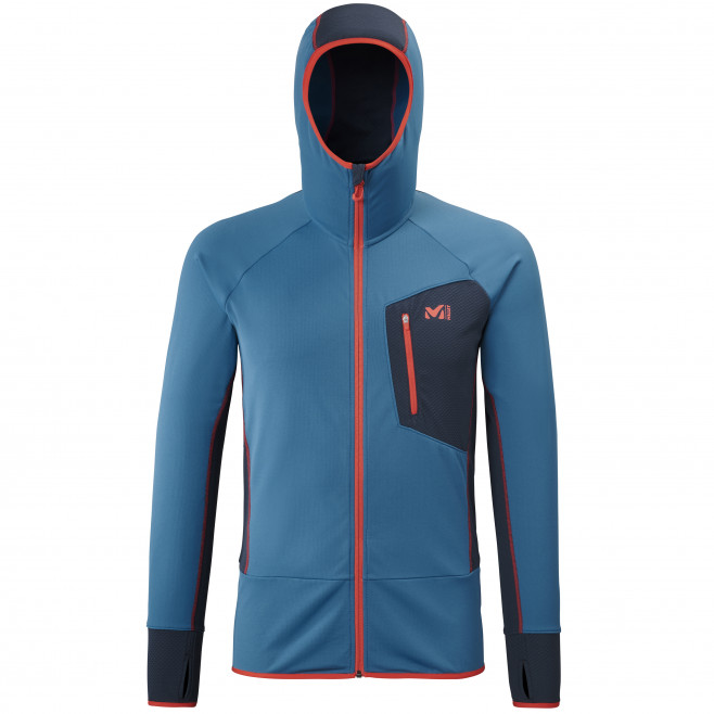Men's lightweight fleecejacket - blue RUTOR THERMAL HOODIE M  Millet