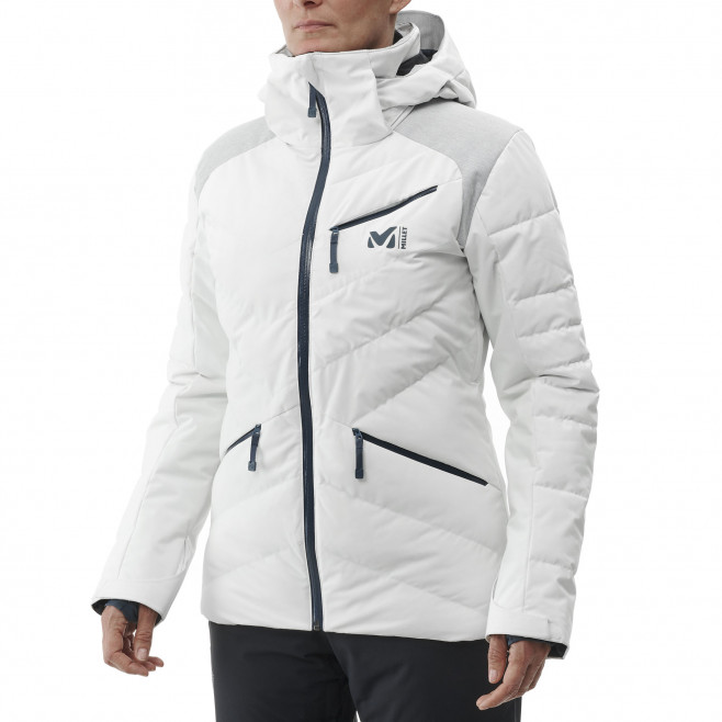 Women's waterproof jacket - white HEIDEN STRETCH JKT W Millet 2