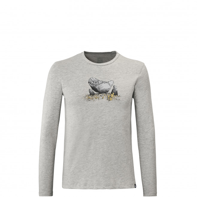 Men's long sleeves tee-shirt - grey BOULDER DREAM TS LS M Millet