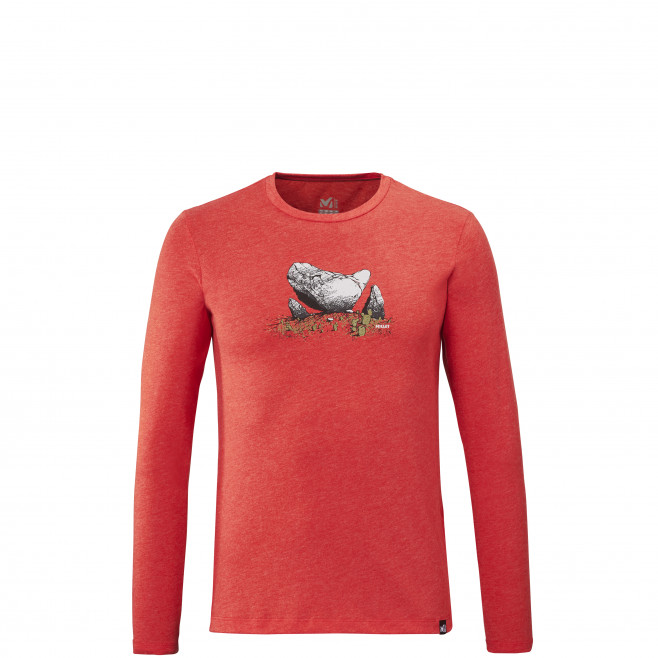 Men's long sleeves tee-shirt - red BOULDER DREAM TS LS M Millet