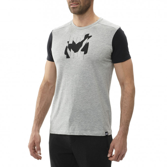 Men's short sleeves tee-shirt - grey BROKEN LOGO TS SS M Millet 2