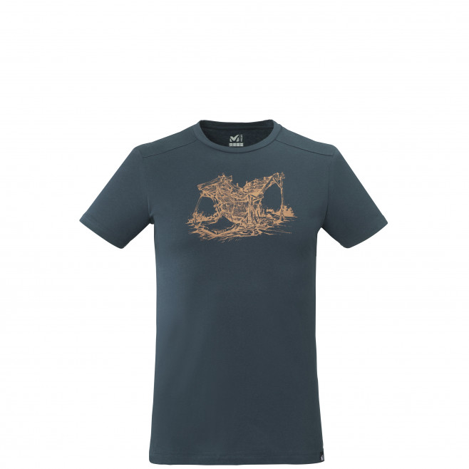 Men's short sleeves tee-shirt - navy-blue WOOD WALL TS SS M Millet