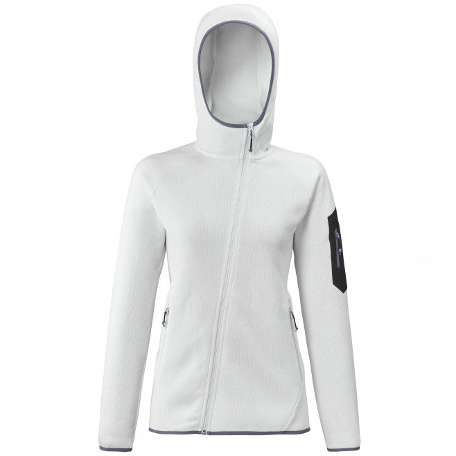Women's very warm fleecejacket - white TRIBENI HOODIE W Millet