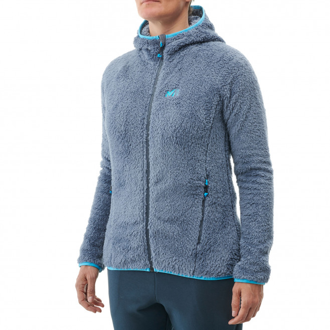 Women's very warm fleecejacket - purple TEKAPO HOODIE W Millet 2