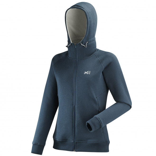Women's urban look sweatshirt - navy-blue COZY FLEECE FULL ZIP HOODIE W Millet