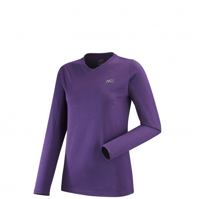 Women's long sleeves tee-shirt - purple WALL TEE LS W Millet