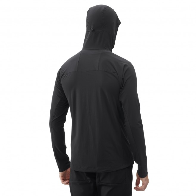 Men's wind resistant jacket - black TRILOGY SIGNATURE XCS HOODIE M Millet 3