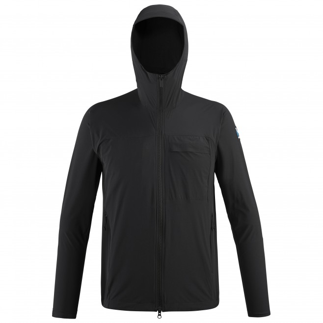 Men's wind resistant jacket - black TRILOGY SIGNATURE XCS HOODIE M Millet