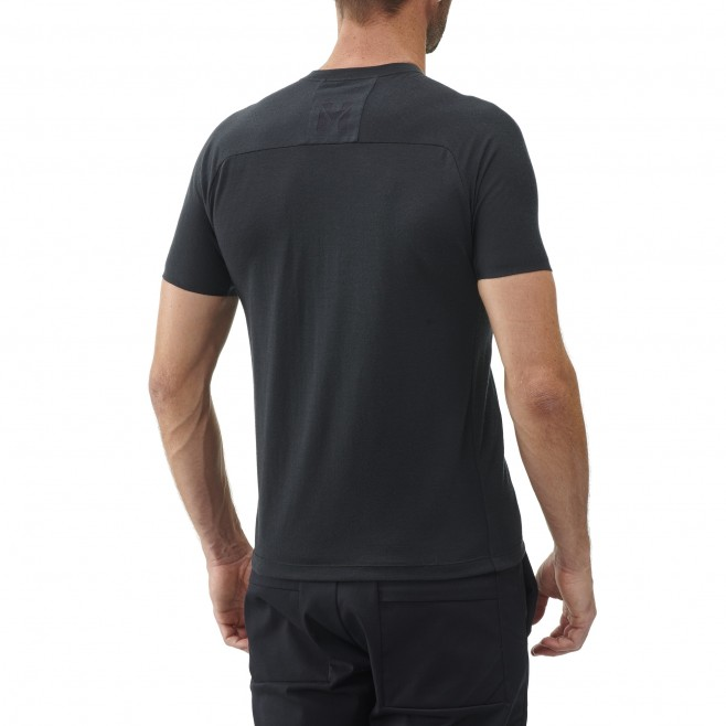 Men's tee-shirt - black TRILOGY SIGNATURE WOOL TS SS M Millet 3