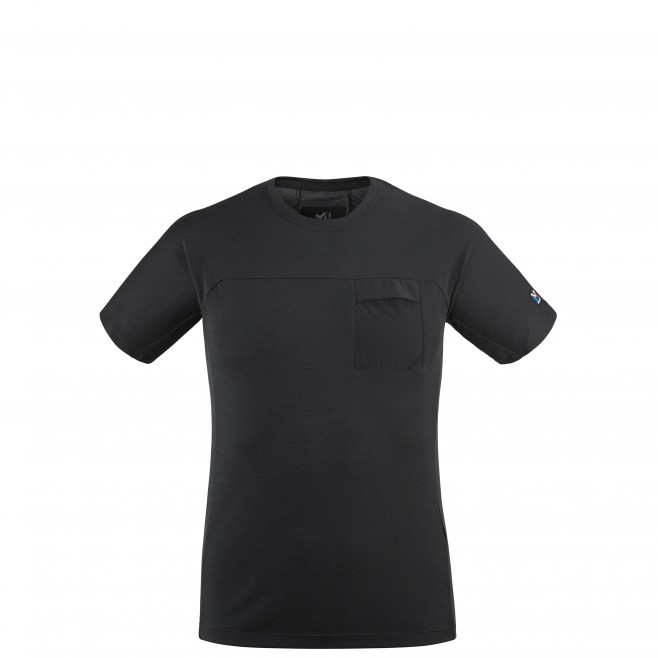 Men's tee-shirt - black TRILOGY SIGNATURE WOOL TS SS M Millet