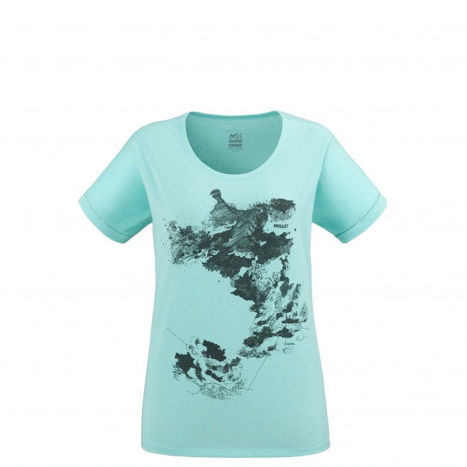 Women's tee-shirt - turquoise ANGEL LIMITED TS SS W Millet