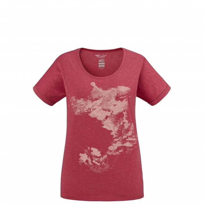 Women's tee-shirt - red ANGEL LIMITED TS SS W Millet