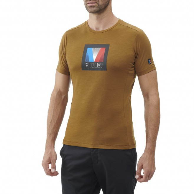 Men's tee-shirt - brown TRILOGY SIGNATURE LOGO V TS SS M Millet 2