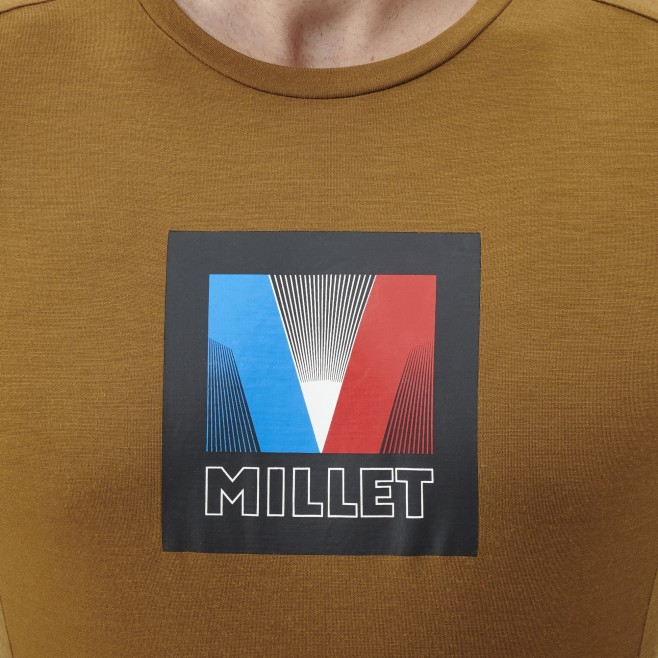 Men's tee-shirt - brown TRILOGY SIGNATURE LOGO V TS SS M Millet 4