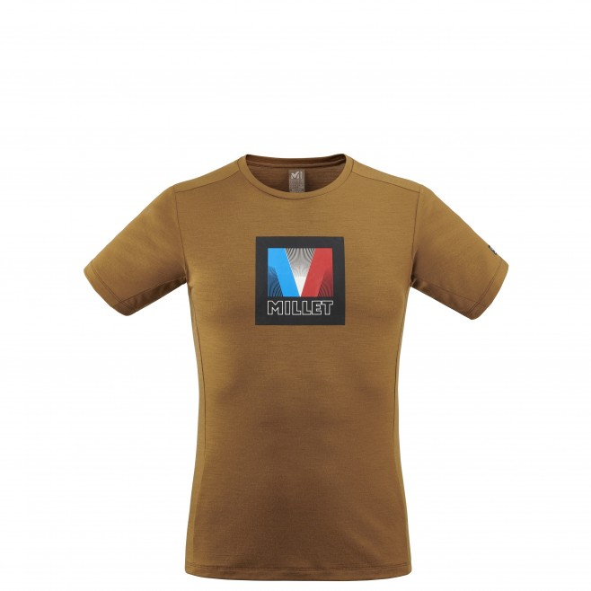 Men's tee-shirt - brown TRILOGY SIGNATURE LOGO V TS SS M Millet