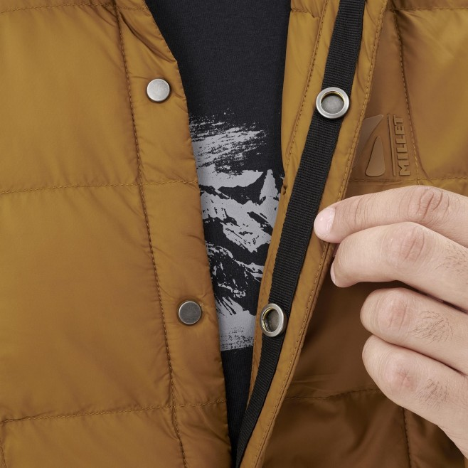 Men's downjacket - brown NIDELVA SHIRT JKT M Millet 5