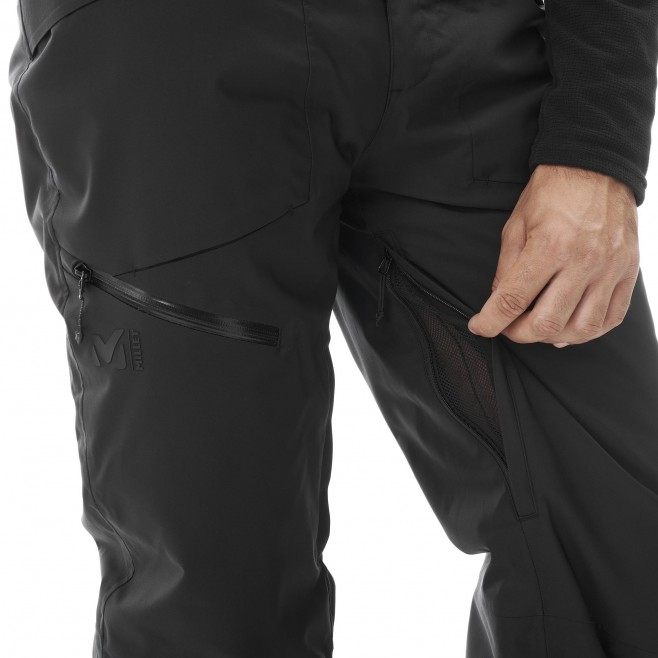Men's waterproof pant - black ALAGNA STRETCH PT M Millet 4