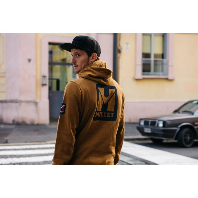 Men's sweat - brown TRILOGY SWEAT HOODIE M Millet 2