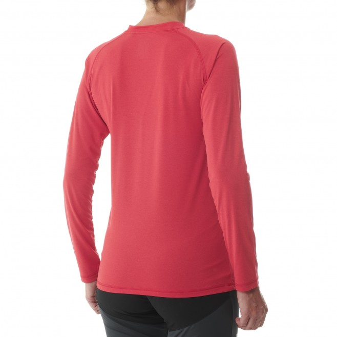 Women's  long sleeves tee-shirt - red TRACK FINDER TS LS W Millet 3