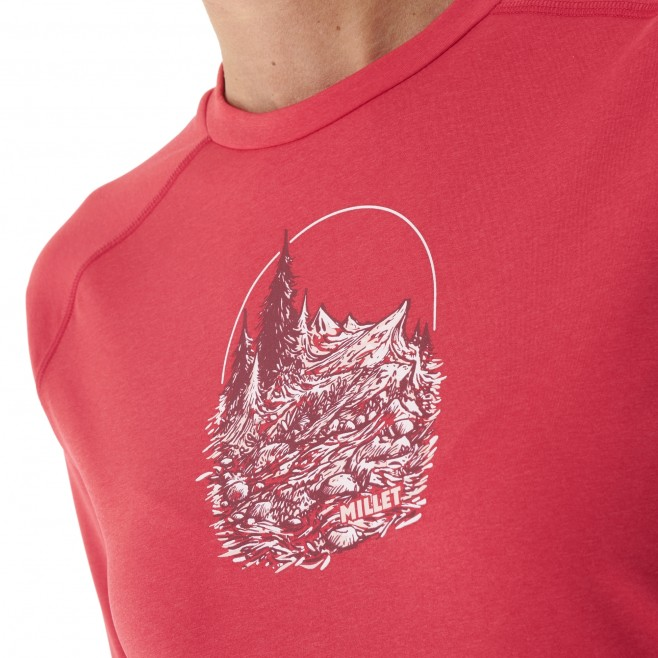 Women's  long sleeves tee-shirt - red TRACK FINDER TS LS W Millet 4