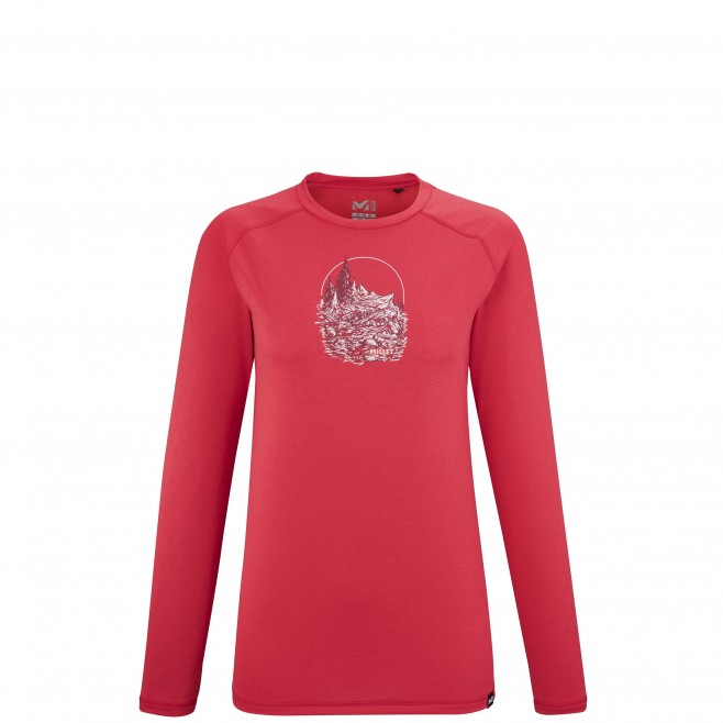 Women's  long sleeves tee-shirt - red TRACK FINDER TS LS W Millet