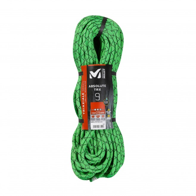 Climbing - rope - Green ABSOLUTE TRX 9mm 60m Millet