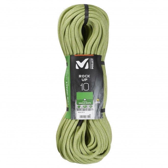 rope - green ROCK UP 10mm 80m Millet
