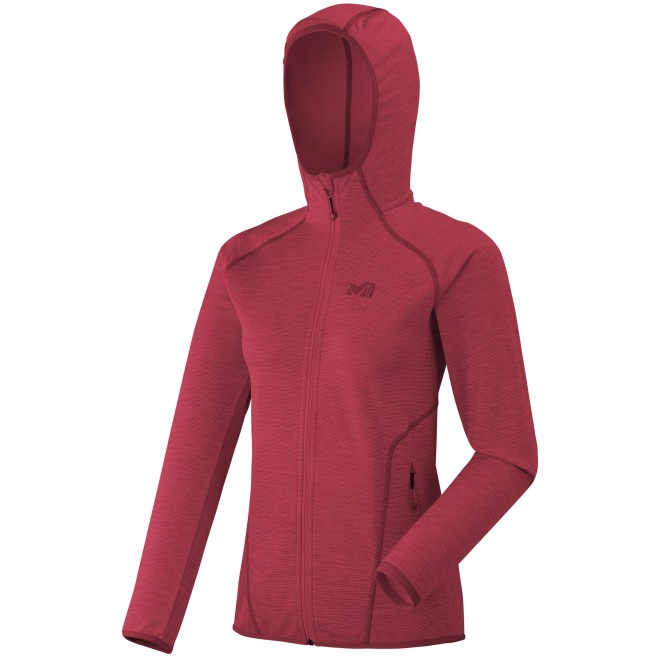 Women's fleecejacket - red TWEEDY MOUNTAIN HOODIE W Millet