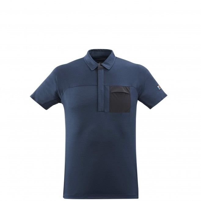 Men's polo - navy-blue TRILOGY SIGNATURE WOOL POLO M Millet
