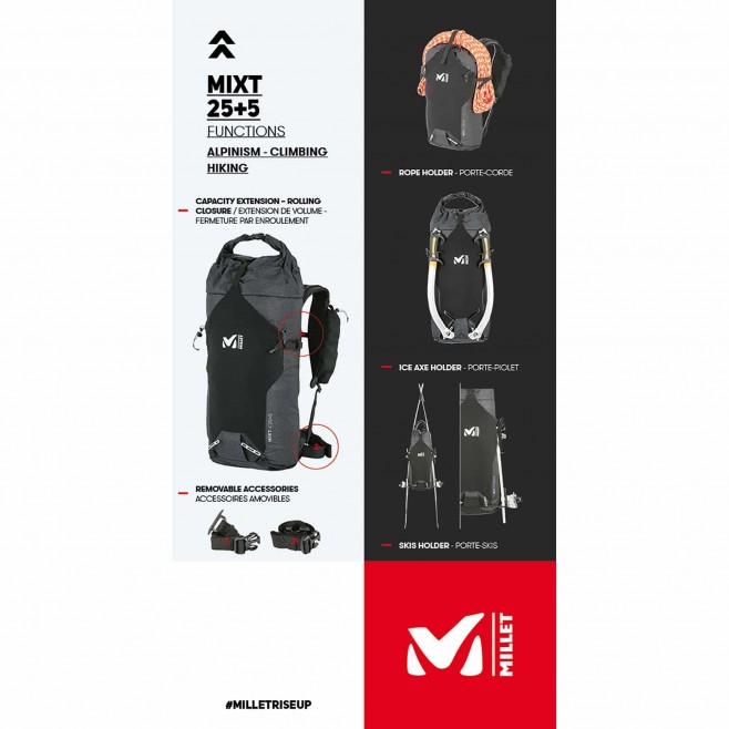 Backpack - 25 liters - black MIXT 25+5 Millet 10