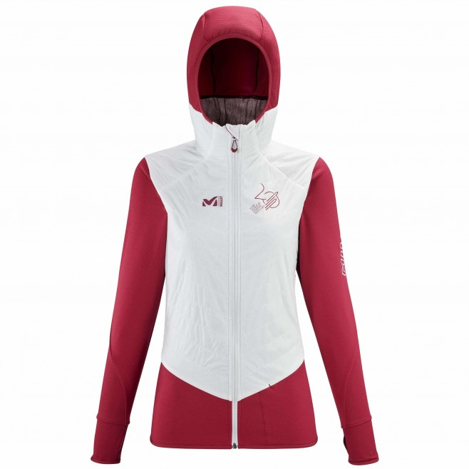 Women's softshell jacket - red ALPHA COMPO RUTOR TOUR HOODIE W Millet