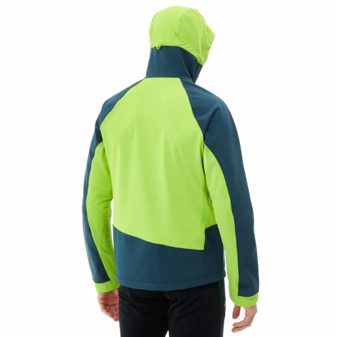 Men's softshell jacket - green TOURING SHIELD EXTREME HOODIE M Millet 3