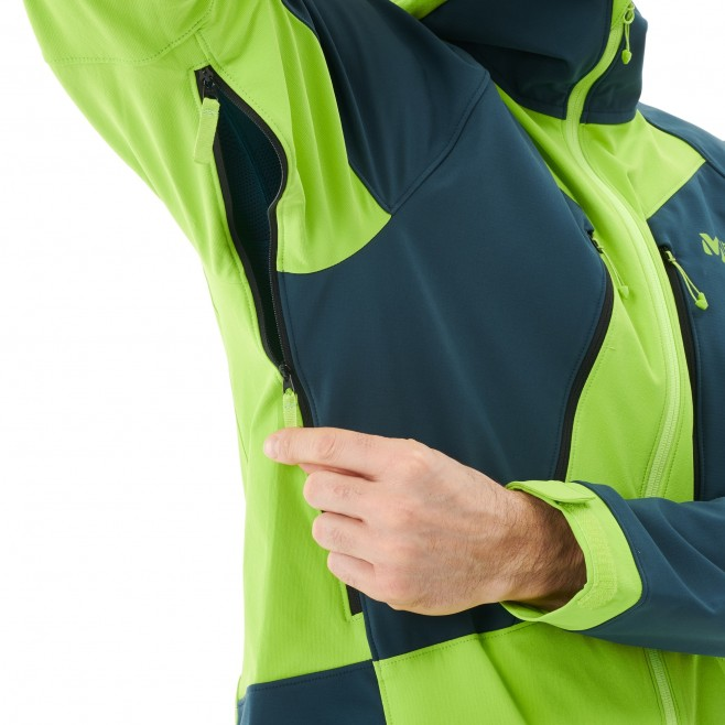 Men's softshell jacket - green TOURING SHIELD EXTREME HOODIE M Millet 4