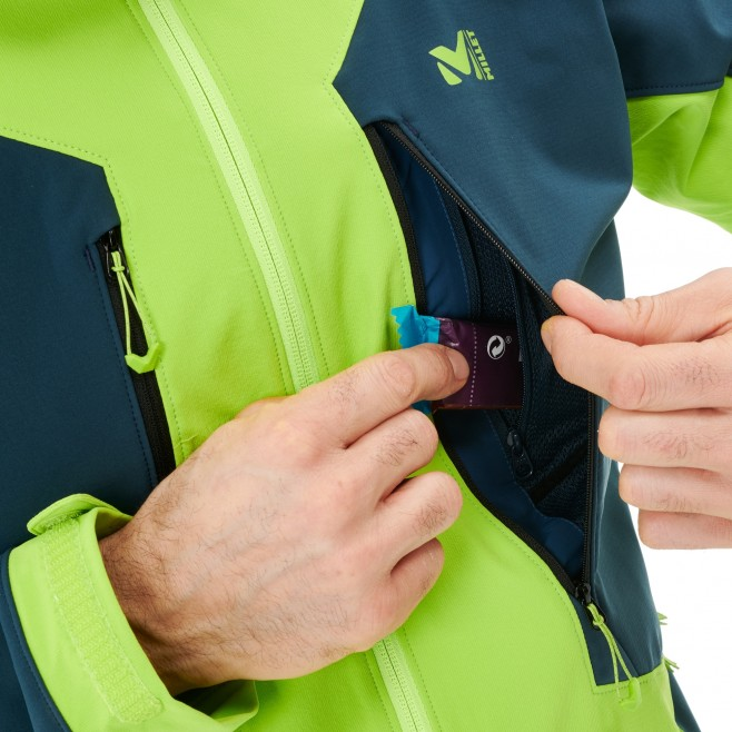 Men's softshell jacket - green TOURING SHIELD EXTREME HOODIE M Millet 5