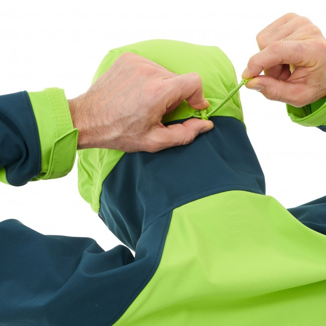 Men's softshell jacket - green TOURING SHIELD EXTREME HOODIE M Millet 6