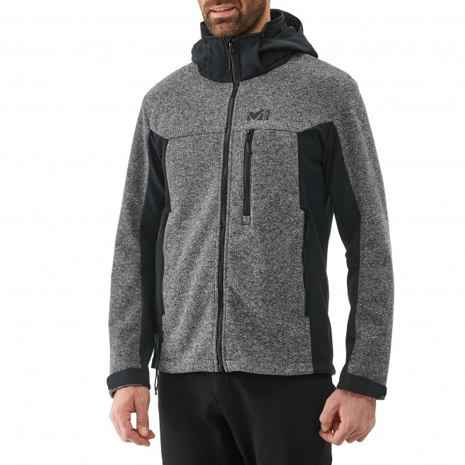 Chaqueta Softshell - hombre - gris PAYUN HOODIE M Millet 2