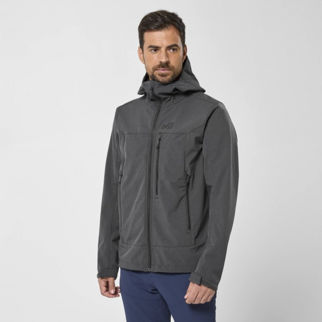 Chaqueta Softshell - Hombre - gris TRACK HOODIE M Millet 2