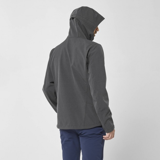 Chaqueta Softshell - Hombre - gris TRACK HOODIE M Millet 3