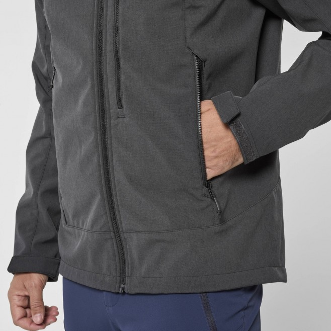 Chaqueta Softshell - Hombre - gris TRACK HOODIE M Millet 4