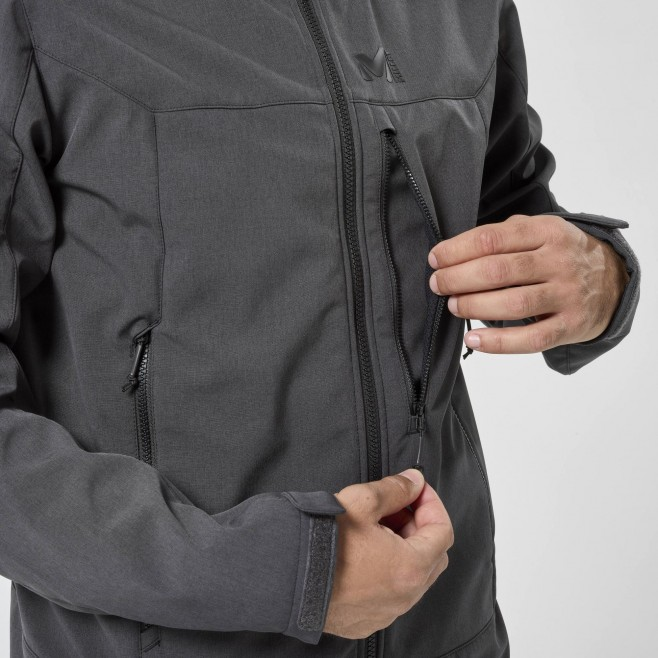 Chaqueta Softshell - Hombre - gris TRACK HOODIE M Millet 5