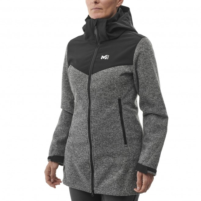 Chaqueta Softshell - mujer - gris PAYUN HOODIE W Millet 2