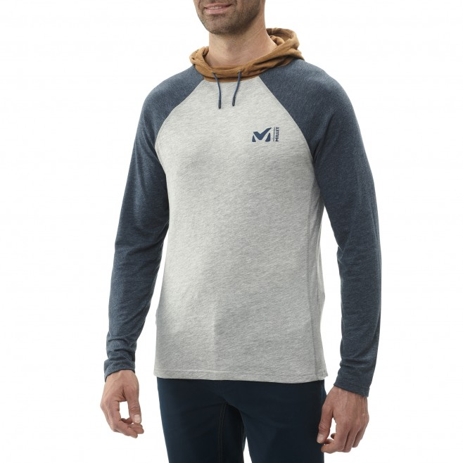 Camiseta - Hombre - gris RED WALL LIGHT HOODIE M Millet 2