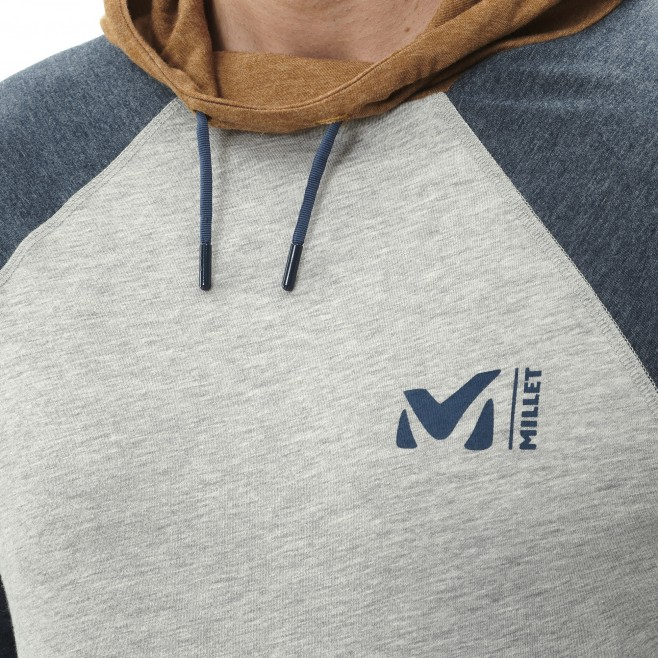 Camiseta - Hombre - gris RED WALL LIGHT HOODIE M Millet 4