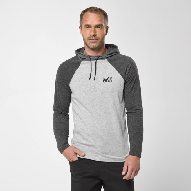 Camiseta para hombre  - gris RED WALL LIGHT HOODIE M Millet 2