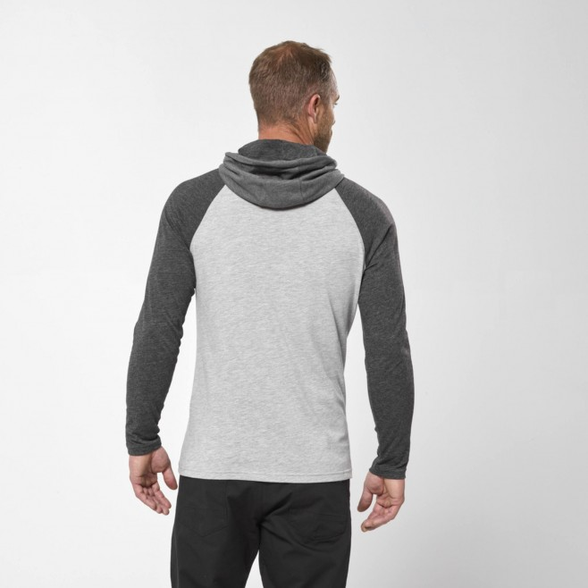 Camiseta para hombre  - gris RED WALL LIGHT HOODIE M Millet 3