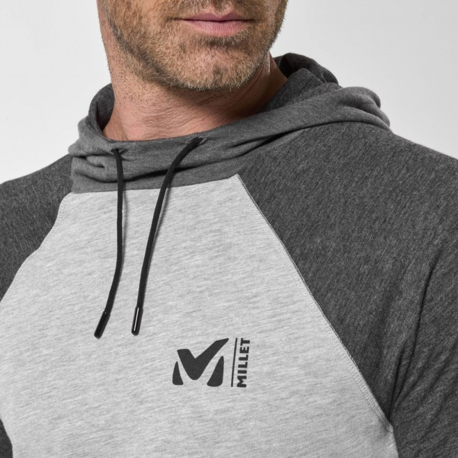 Camiseta para hombre  - gris RED WALL LIGHT HOODIE M Millet 4