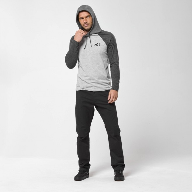 Camiseta para hombre  - gris RED WALL LIGHT HOODIE M Millet 5