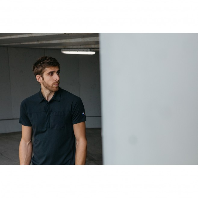 Polo - Hombre - Negro TRILOGY SIGN WOOL POLO M Millet 2