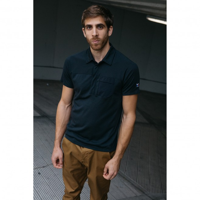 Polo - Hombre - Negro TRILOGY SIGN WOOL POLO M Millet 3